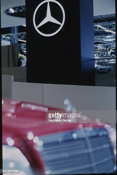 symbol of mercedes benz stock photos and pictures getty images