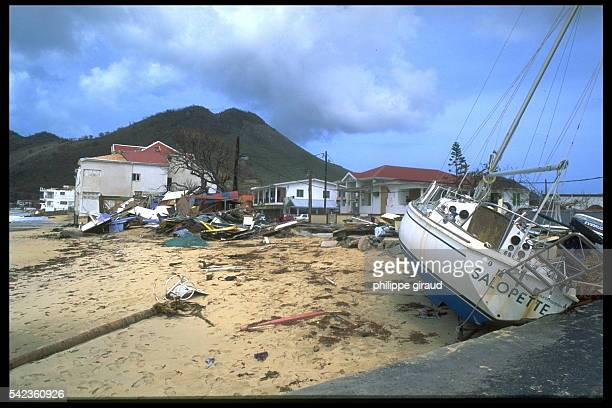 CYCLONE 'LUIS' RAVAGES THE ISLAND OF ST MARTIN