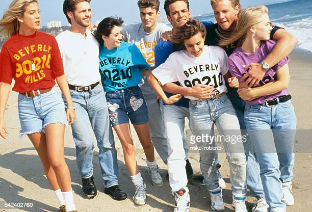 THE 'BEVERLY HILLS 90210' TEAM