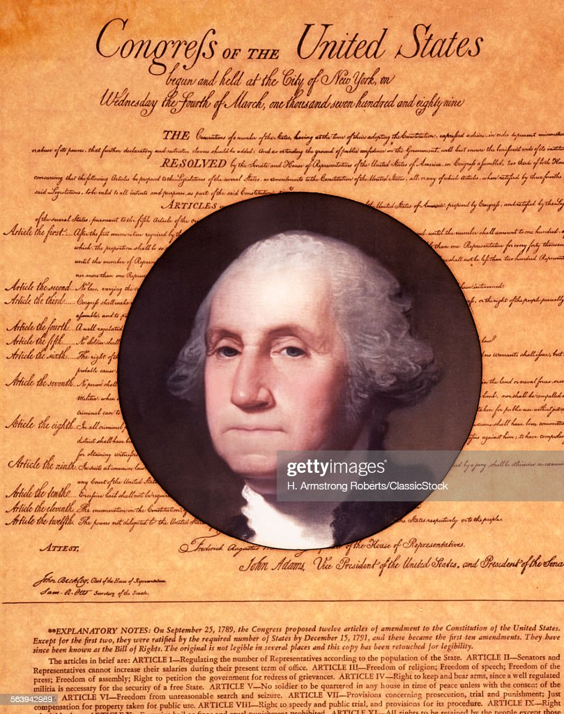 BILL OF RIGHTS WITH... : News Photo