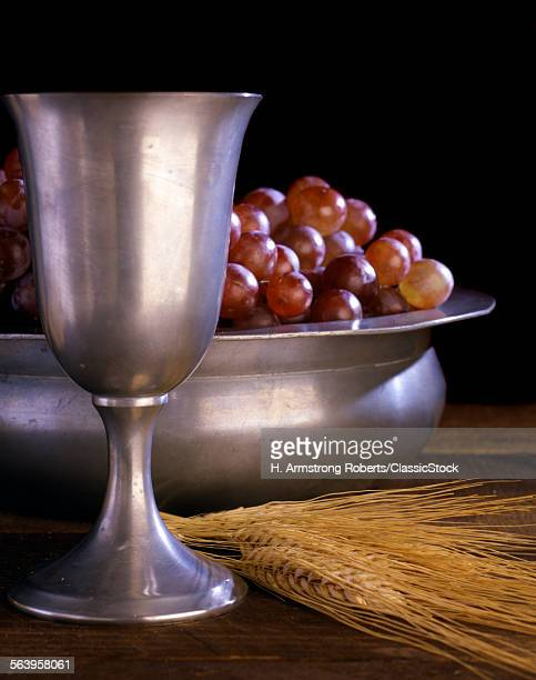 PEWTER CHALICE GRAPES...