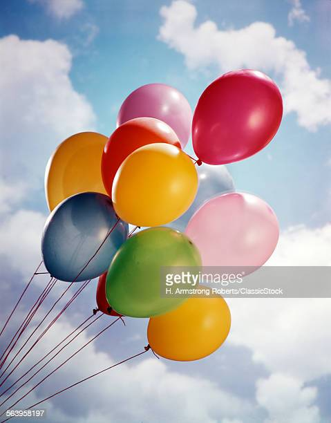MULTIPLE COLORED BALLOONS...