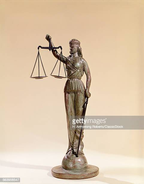STATUE OF BLIND JUSTICE...