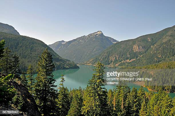 emerald - diablo lake stock photos and pictures