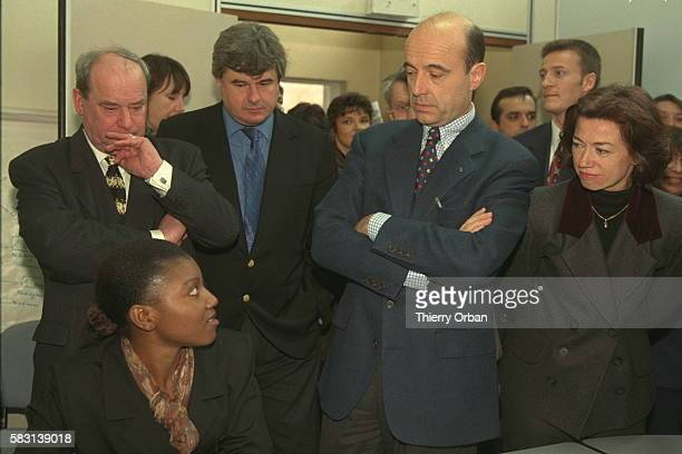 ALAIN JUPPE ON OFFICIAL VISIT TO AULNAY SOUS BOIS