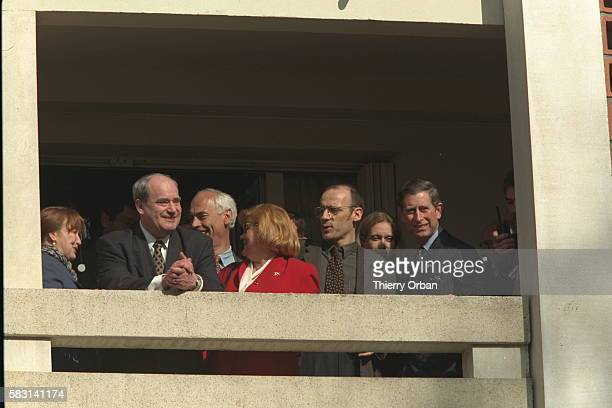 PRINCE CHARLES VISITS THE FRENCH SUBURBS