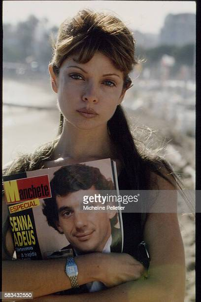 THE ACTRESS MARJORIE, SENNA'S FORMER FIANCEE, IN CANNES