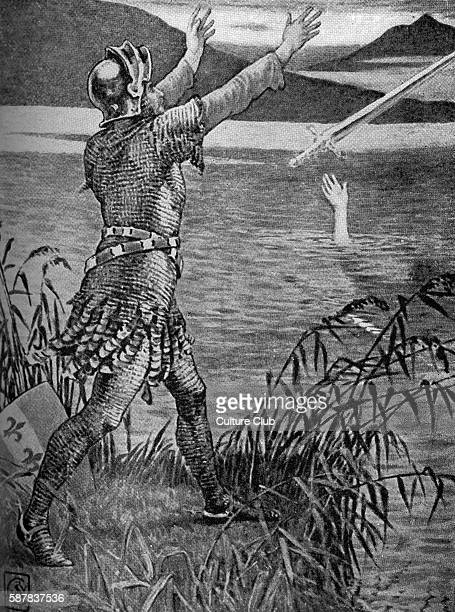 King Arthur Sir Bedivere throwing Excalibur into the lake by Walter Crane One of the Knights of the Round Table Sir Bedivere throws the sword...