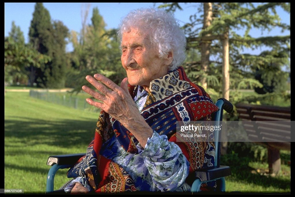 JEANNE CALMENT, THE WORLD'S OLDEST PERSON : News Photo
