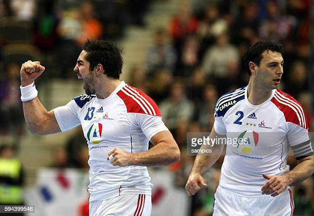 Jubel Nikola Karabatic rechts Jerome Fernandez Handball Herren WM 2011 Deutschland Frankreich mens handball worldcup 2011 Sweden Germany France...