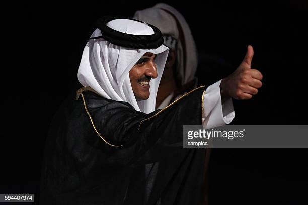 Frankreich ist Handball Weltmeister 2015 Emir von Qatar Sheikh Tamim bin Hamad Al Thani Men's World Championsship 2015 Qatar final match Qatar France...