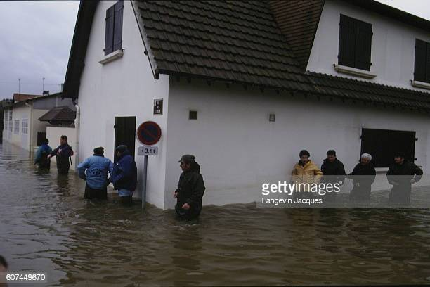 FLOODS AT OUISTREHAM