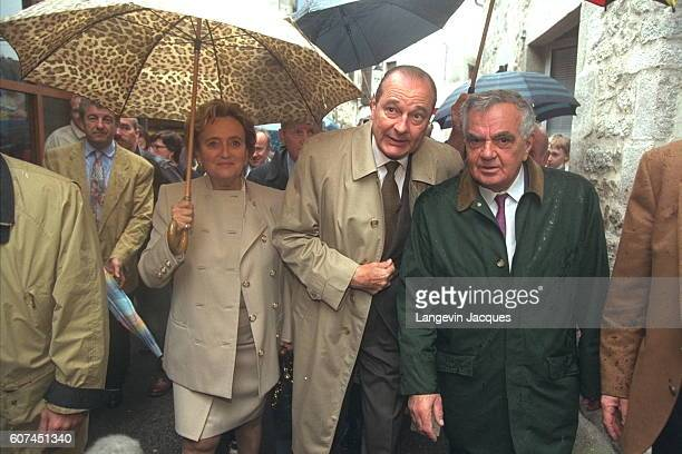 JACQUES AND BERNADETTE CHIRAC VISIT CORREZE