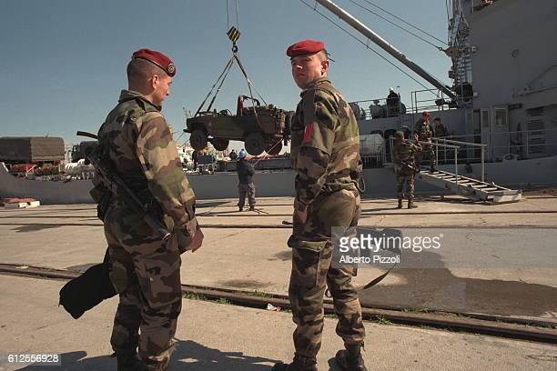 ARRIVAL OF FRENCH TROOPS IN ALBANIA