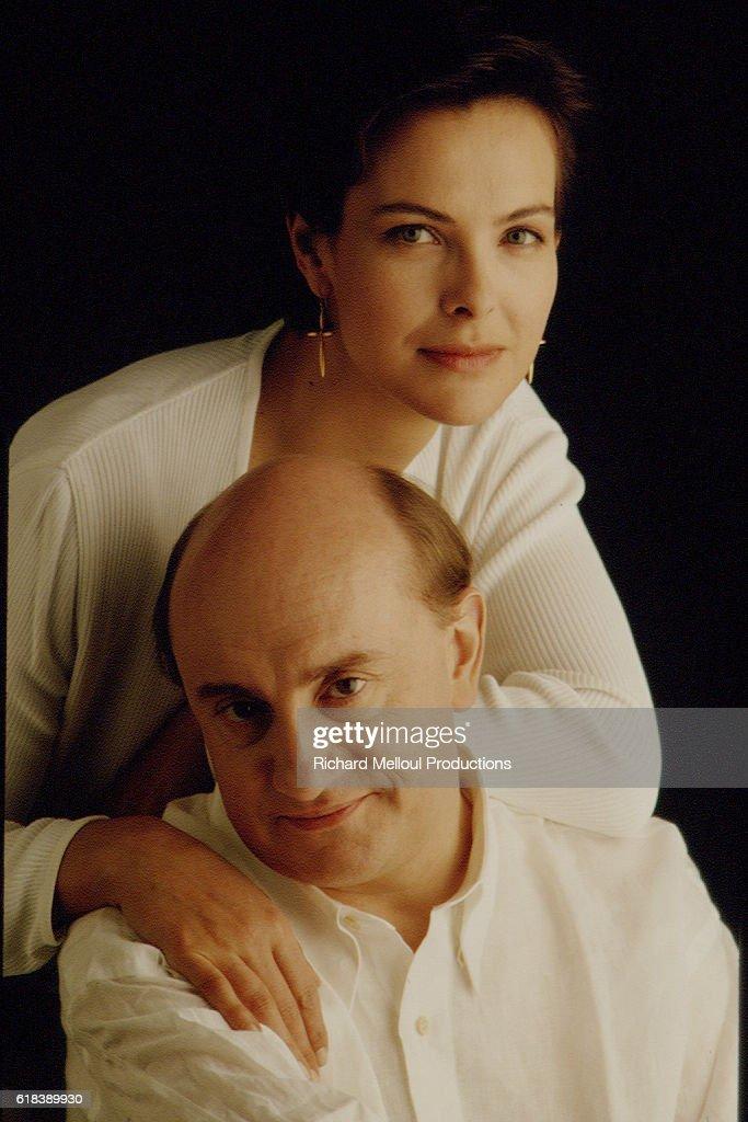 CAROLE BOUQUET AND MICHEL BLANC IN A PHOTO STUDIO : Photo d'actualité