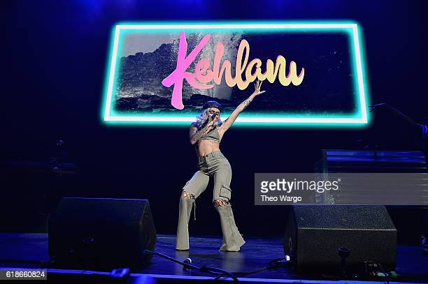 Singer Kehlani performs onstage during Power 1051's Powerhouse 2016 at Barclays Center on October 27 2016 in New York City