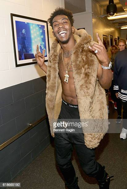 Rapper Desiigner poses backstage during Power 1051's Powerhouse 2016 at Barclays Center on October 27 2016 in New York City