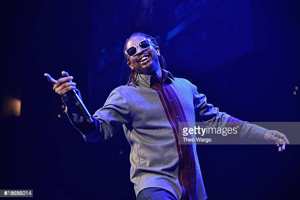 Rapper Lil Jon performs onstage during Power 1051's Powerhouse 2016 at Barclays Center on October 27 2016 in New York City