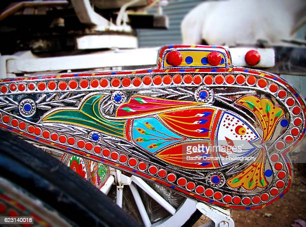 pakistani truck art - chariot racing stock photos and pictures