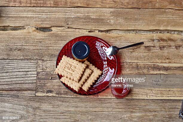 STRAWBERRY JAM AND BISCUITS