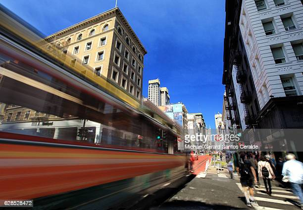 TROLLEY CAR IN ACTION