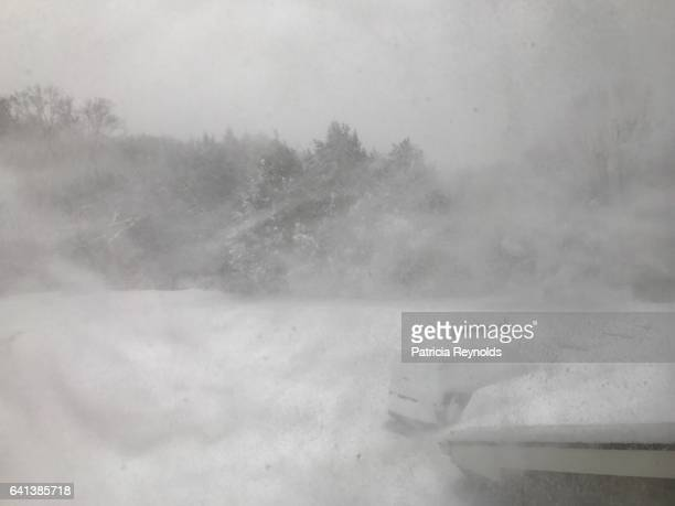 blizzard chris hits storrs, ct, usa - snow storm stock photos and pictures