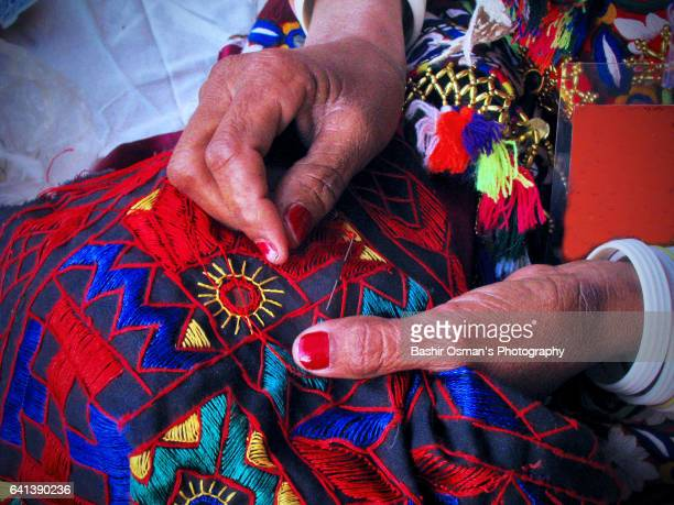 sindhi culture - stiches stock photos and pictures