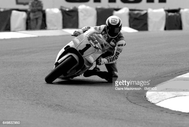 DURING UNTIMED PRACTICE FOR 500CC AT THE BRITISH GRAND PRIX AT DONNINGTON RACE TRACK