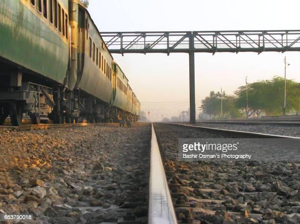 gambat railway station - pakistan train stock photos and pictures