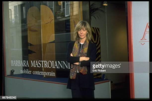 BARBARA MASTROIANNI IN PARIS FOR HER EXHIBITION