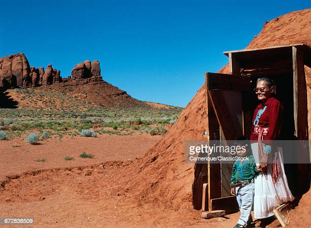 NAVAJO WOMAN AND...