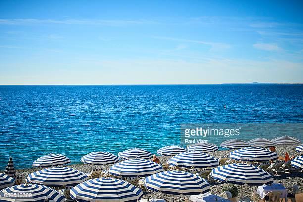 STRIPPPED BEACH UMBRELLAS