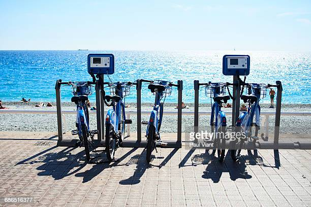 ROW OF PUSH BIKES FOR HIRE
