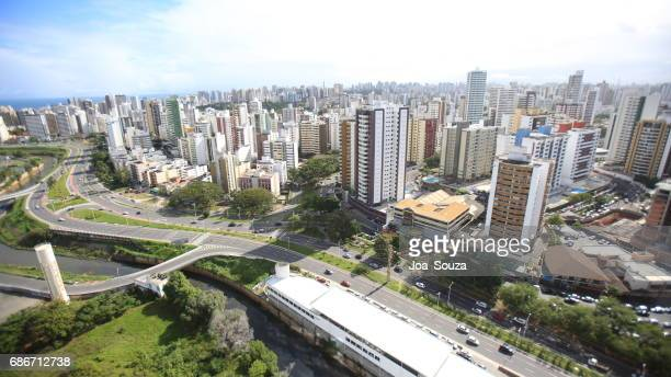 AERIAL VIEW OF BUILDINGS RESIDENCES IN SALVADOR