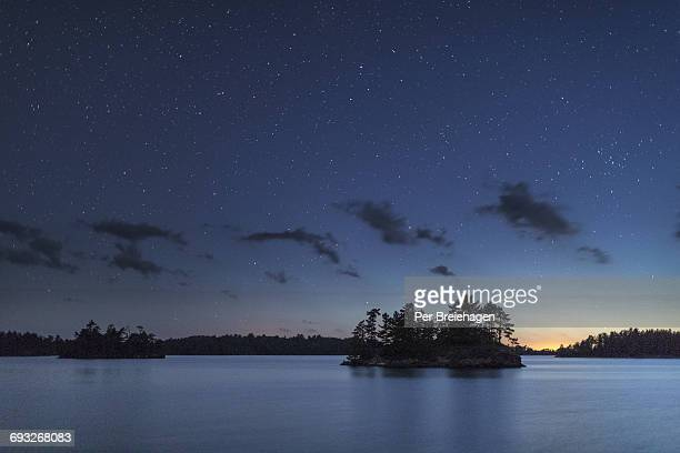 night in voyageurs national park - minnesota stock pictures, royalty-free photos & images