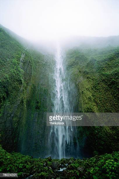 thc0024393 - water fall hawaii stock pictures, royalty-free photos & images