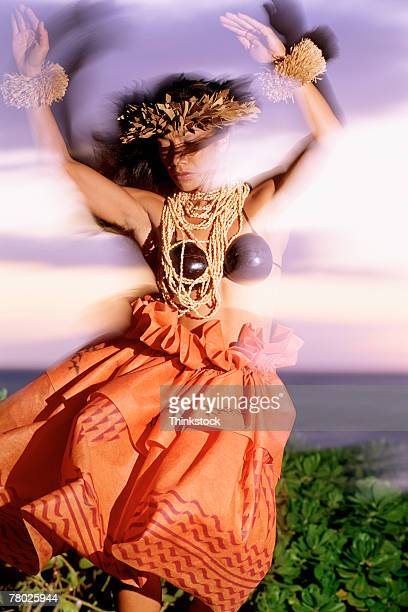 thc0021606 - hula dancer stock pictures, royalty-free photos & images