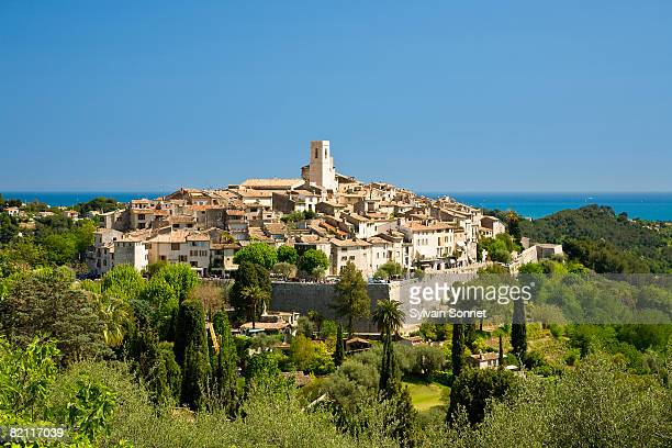 saint paul de vence, provence, cote d'azur, france - サンポールドヴァンス ストックフォトと画像