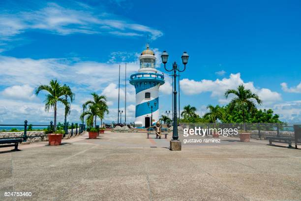 lighthouse in ecuador - ecuador stock pictures, royalty-free photos & images