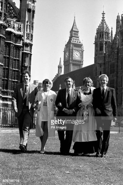 AND LINDA HODGSON JOIN FORCES WITH POLITICIANS AT WESTMINSTER WHEN WORKERS OF THE YORKBASED CONFECTIONERS TRAVELLED TO LONDON TO PROTEST AT TAKEOVER...