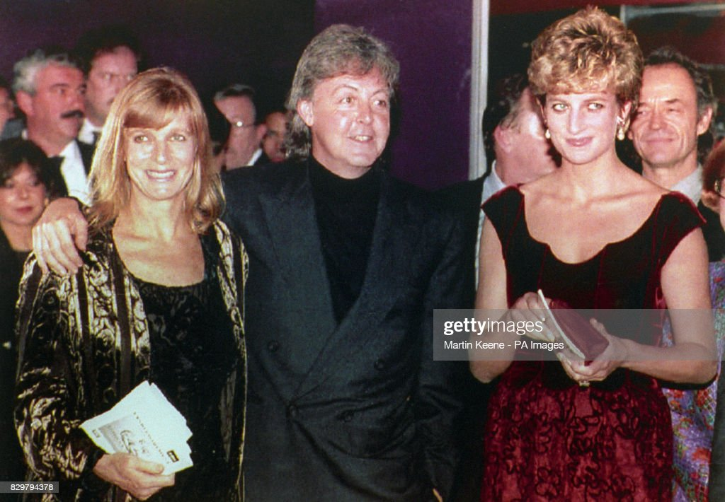 PRINCESS OF WALES WITH SINGER COMPOSER PAUL MCCARTNEY AND HIS WIFE LINDA AFTER
