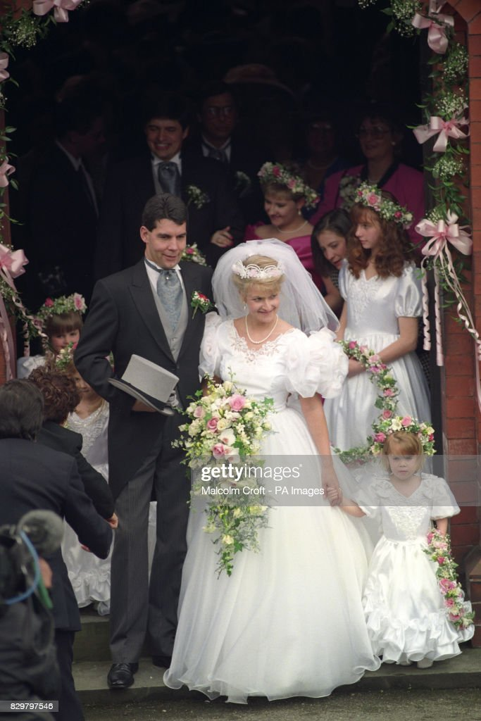 FORMER ROYAL NANNY ALISON WARDLEY WAS MARRIED TO BODYGUARD BEN DADY AT ST CHADS CHURCH