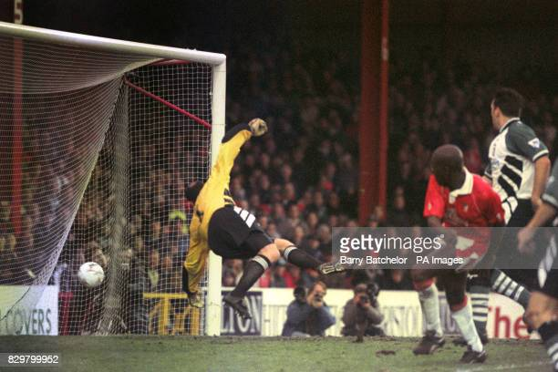 PUTS THE BALL PAST BRUCE GROBBELAAR TO PUT BRISTOL CITY LEVEL WITH LIVERPOOL AT 11 DURING THE FA CUP 3RD ROUND MATCH WHICH WAS ABANDONED AT HALF TIME