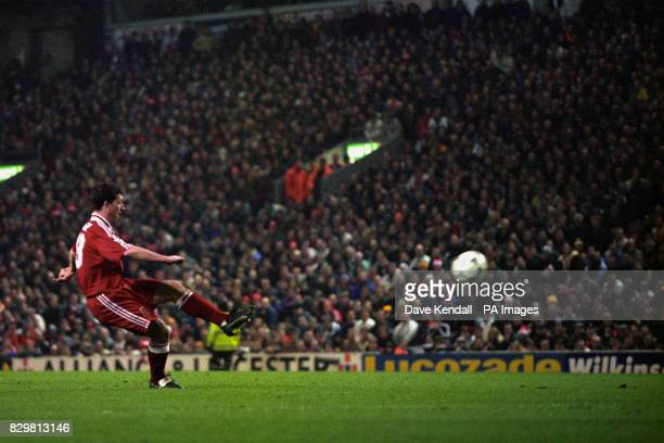 REDS' FIRST GOAL AGAINST OLD RIVALS MANCHESTER UNITED