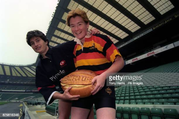 AND RICHMOND CAPTAIN KAREN FINDLAY AT TWICKENHAM WHERE THE RUGBY FOOTBALL UNION FOR WOMEN ANNOUNCED THE BIGGEST EVER SPONSORSHIP DEAL IN WOMEN'S...