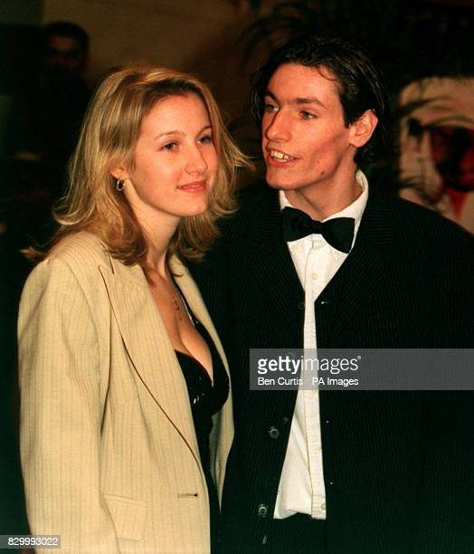 PA NEWS PHOTO 14/2/98 ACTOR DEAN GAFFNEY & GIRLFRIEND ATTEND A CELEBRITY VALENTINES BALL AT THE HILTON HOTEL, LONDON