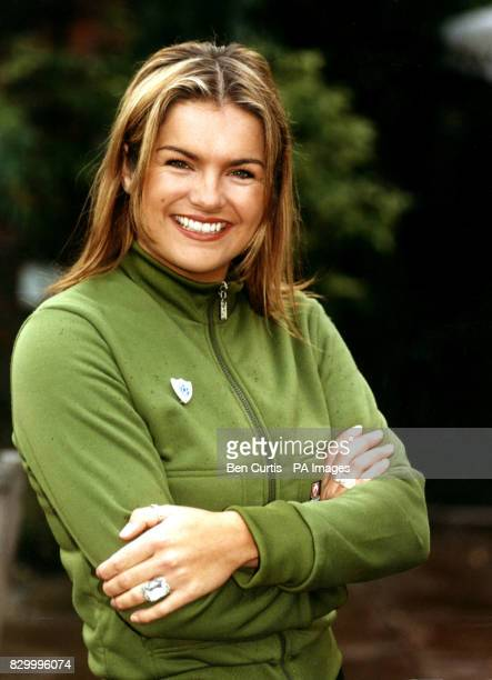 S BLUE PETER PRESENTER KATY HILL AT THE KENSINGTON ROOF GARDENS LONDON FOR THE LAUNCH OF THE CHILDREN'S BBC WINTER SEASON OF PROGRAMMES