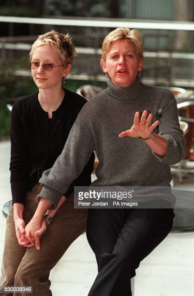 CHANNEL 4 ELLEN POSES WITH HER PARTNER ANNE HECHE DURING A PHOTOCALL IN LONDON TO PROMOTE HER UK SCREENING COMING OUT EPISODE