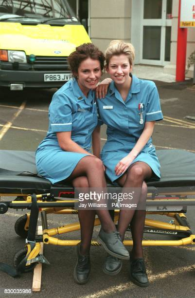 WHO PLAYS STAFF NURSE CHLOE HILL WITH CLAIRE GOOSE WHO PLAYS STAFF NURSE TINA SEABROOK IN THE BBC TV HOSPITAL DRAMA CASUALTY