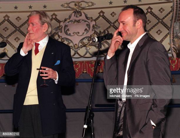 TOLE AND KEVIN SPACEY ATTEND THE RELAUNCH OF THE OLD VIC THEATRE IN LONDON SPACEY IS THE DIRECTOR OF THE OLD VIC THEATRE TRUST WHICH HAS SAVED THE...